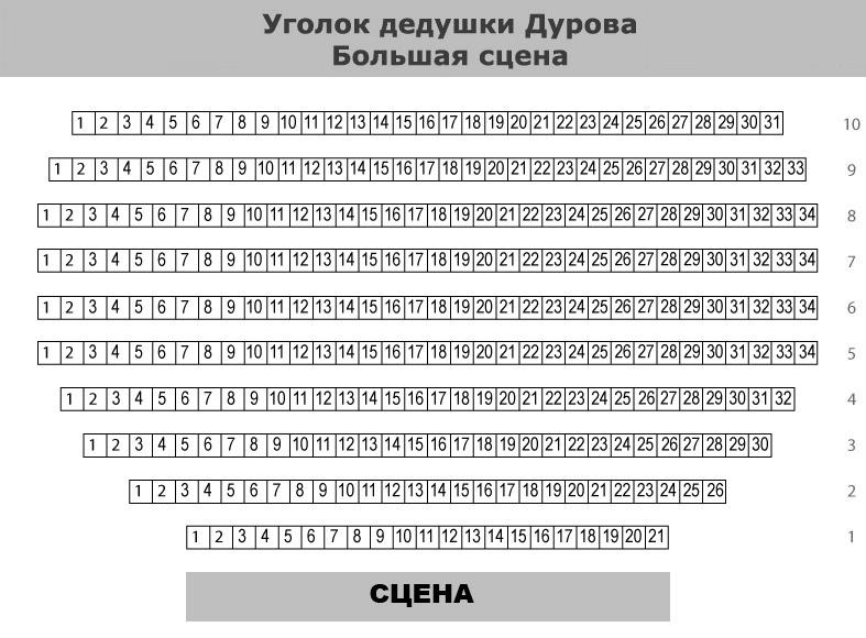Место (схема зала):